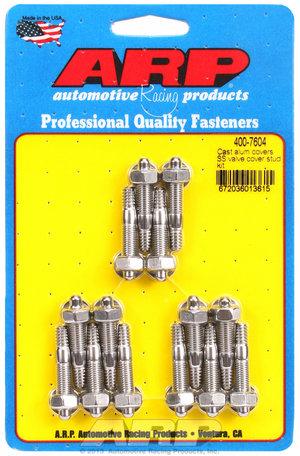 ARP Cast alum covers SS valve cover stud kit 4007604