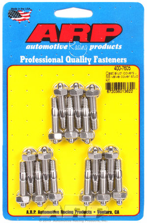ARP Cast alum covers SS valve cover stud kit 4007605