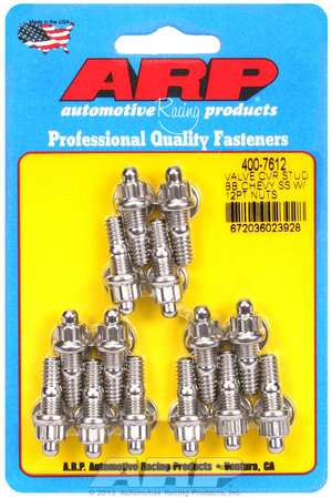 ARP BB Chevy stamped steel covers SS 12 pt valve cover stud kit 4007612