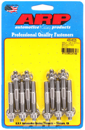ARP M8 X 1.25 X 57mm broached stud kit - 10pcs 4008025
