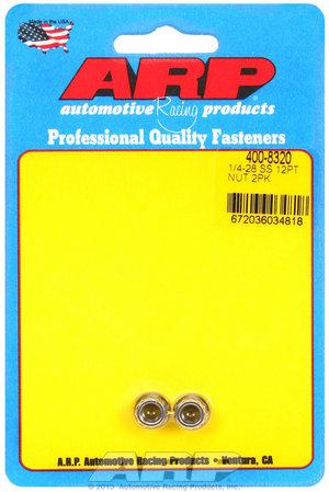 ARP 1/4-28 SS 12pt nut kit 4008320