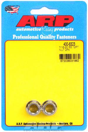ARP 7/16-20 SS 12pt nut kit 4008323