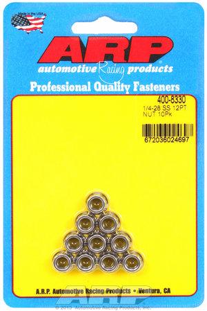 ARP 1/4-28 SS 12pt nut kit 4008330