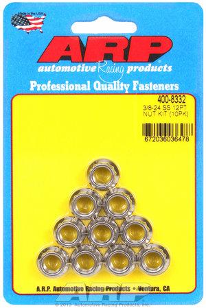 ARP 3/8-24 SS 12pt nut kit 4008332