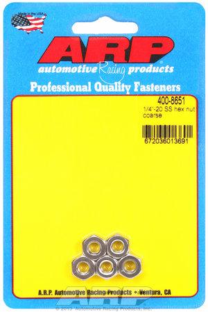 ARP 1/4-20 SS coarse hex nut kit 4008651