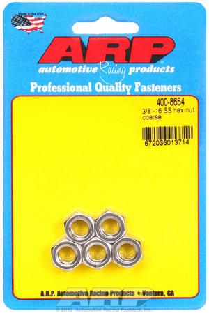 ARP 3/8-16 SS coarse hex nut kit 4008654