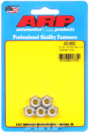 ARP 5/16-18 SS coarse nyloc hex nut kit 4008662