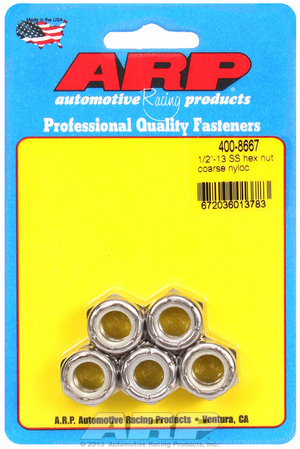 ARP 1/2-13 SS coarse nyloc hex nut kit 4008667