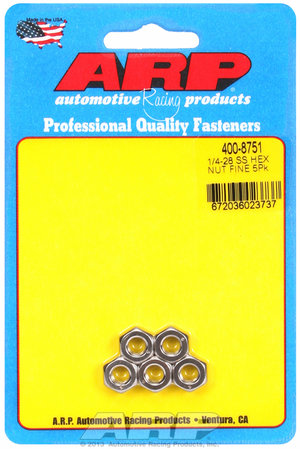 ARP 1/4-28 SS fine hex nut kit  4008751