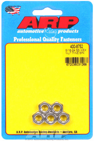 ARP 5/16-24 SS fine hex nut kit 4008752