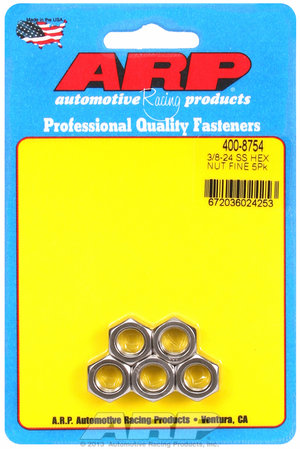 ARP 3/8-24 SS fine hex nut kit 4008754