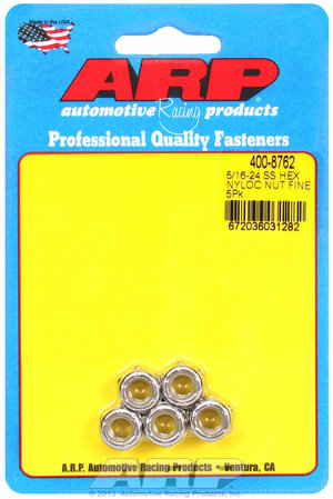ARP 5/16-24 SS fine nyloc hex nut kit  4008762