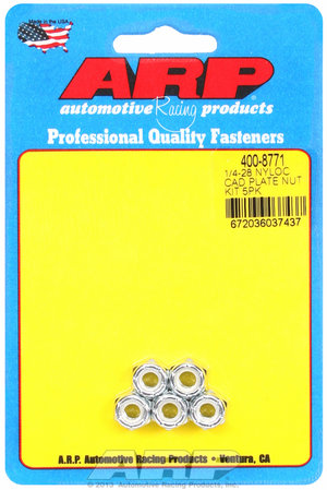 ARP 1/4-28 nyloc cad plate nut kit 4008771