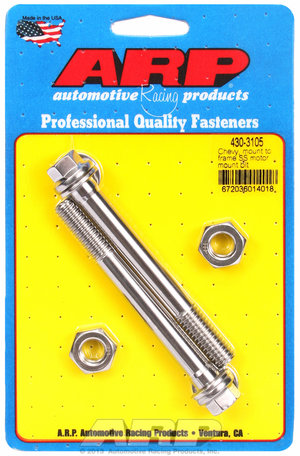 ARP Chevy, mount to frame, SS motor mount bolt kit 4303105
