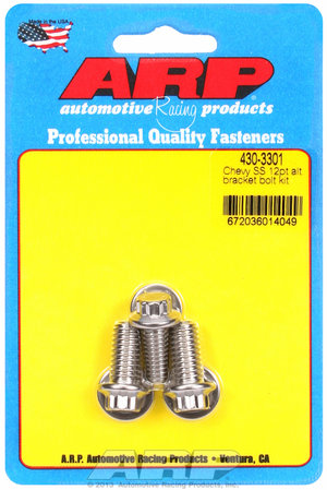 ARP Chevy SS 12pt alternator bracket bolt kit 4303301
