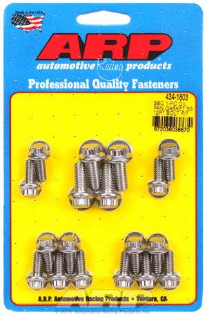 ARP SB Chevy 1-pc SS 12pt oil pan gasket bolt kit 4341803