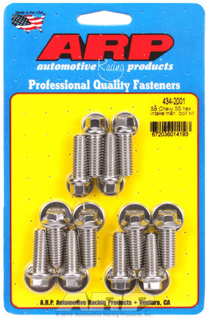 ARP SB Chevy SS hex intake manifold bolt kit 4342001