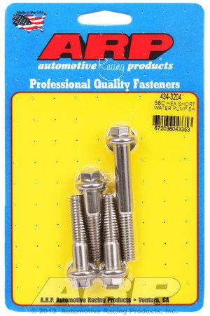 ARP SB Chevy hex short water pump bolt kit 4343204