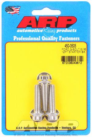 """ARP Ford SS 3-bolt 5/16"""" 12pt starter bolt kit 4503505"""