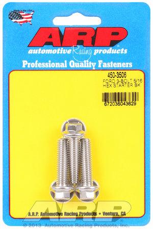 """ARP Ford SS 3-bolt 5/16"""" hex starter bolt kit 4503506"""