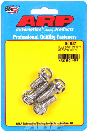 "ARP Ford SS 5/16"" 12pt oil pump bolt kit 4506901"