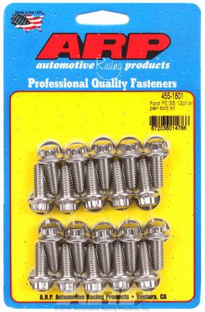 ARP Ford FE SS 12pt oil pan bolt kit 4551801