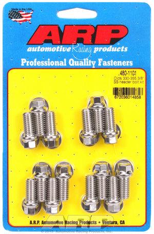 """ARP Olds 330-455 3/8"""" SS header bolt kit 4801101"""