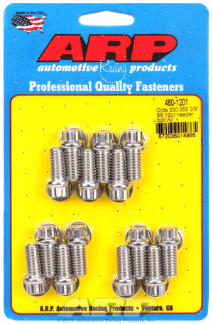 "ARP Olds 330-455 3/8"" SS 12pt header bolt kit 4801201"