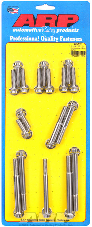 ARP Pontiac SS 12pt timing cover & water pump kit 4901501