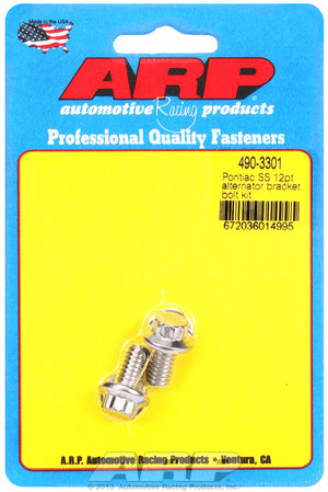 ARP Pontiac SS 12pt alternator bracket bolt kit 4903301