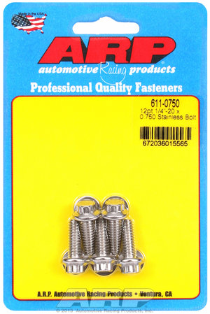 ARP 1/4-20 x 0.750 12pt SS bolts 6110750