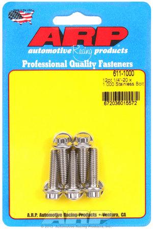 ARP 1/4-20 x 1.000 12pt SS bolts 6111000