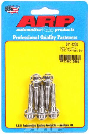 ARP 1/4-20 x 1.250 12pt SS bolts 6111250