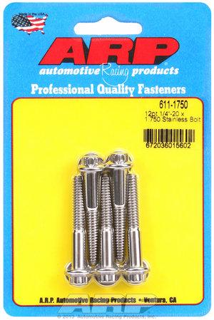 ARP 1/4-20 x 1.750 12pt SS bolts 6111750