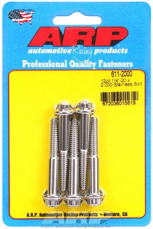 ARP 1/4-20 x 2.000 12pt SS bolts 6112000