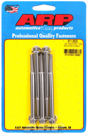ARP 1/4-20 x 3.500 12pt SS bolts 6113500