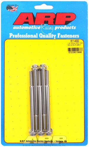 ARP 1/4-20 x 4.000 12pt SS bolts 6114000