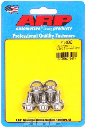 ARP 5/16-18 x 0.560 12pt SS bolts 6120560
