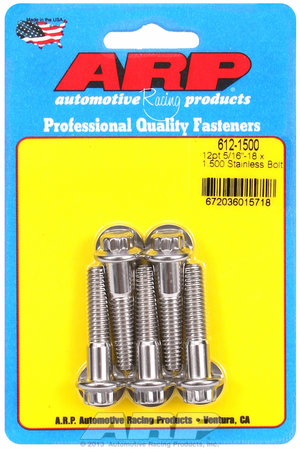 ARP 5/16-18 x 1.500 12pt SS bolts 6121500