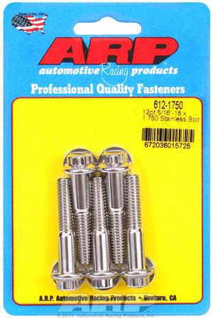 ARP 5/16-18 x 1.750 12pt SS bolts 6121750