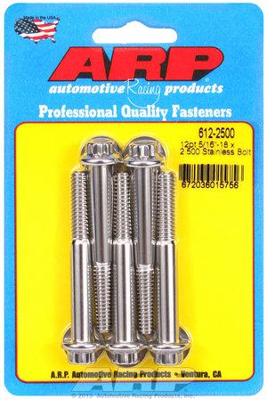 ARP 5/16-18 x 2.500 12pt SS bolts 6122500