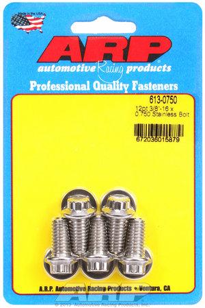 ARP 3/8-16 x 0.750 12pt SS bolts 6130750
