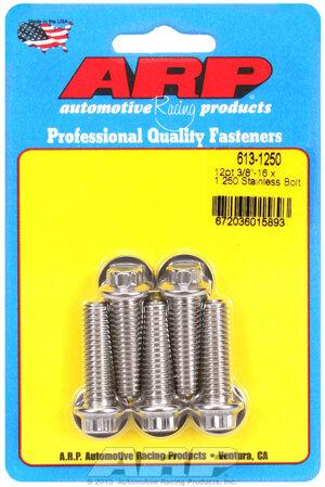 ARP 3/8-16 x 1.250 12pt SS bolts 6131250