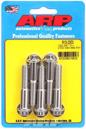 ARP 3/8-16 x 2.000 12pt SS bolts 6132000