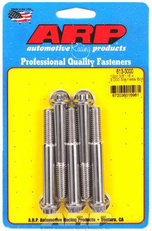 ARP 3/8-16 x 3.000 12pt SS bolts 6133000