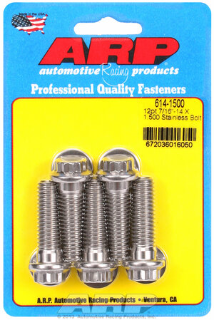 ARP 7/16-14 X 1.500 12pt 1/2 wrenching SS bolts 6141500