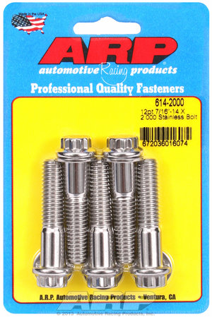 ARP 7/16-14 X 2.000 12pt 1/2 wrenching SS bolts 6142000