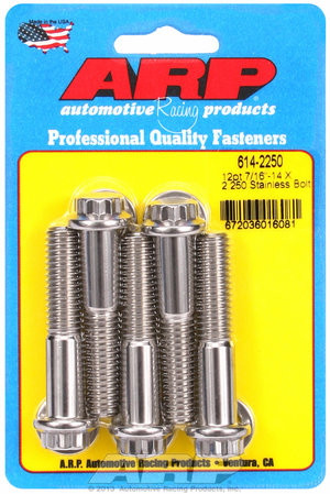 ARP 7/16-14 X 2.250 12pt 1/2 wrenching SS bolts 6142250