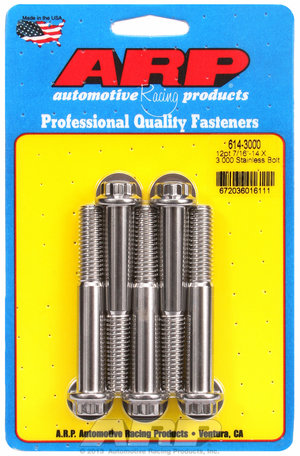 ARP 7/16-14 X 3.000 12pt 1/2 wrenching SS bolts 6143000