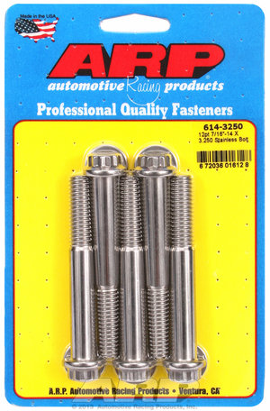 ARP 7/16-14 X 3.250 12pt 1/2 wrenching SS bolts 6143250